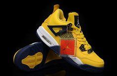 Air Jordan 4 Retro Lightning Tour Yellow Grey White New Jordans Shoes 2013 #Yellow #Womens #Sneakers