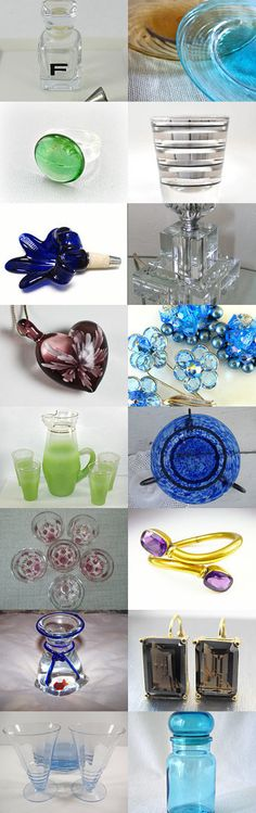 GLAMOROUS GLASS II, Vintage Vogue Team - by Cleaver White on Etsy, www.PeriodElegance.etsy.com