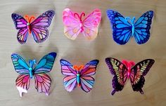 butterflies made from plastic milk cartons; created by Filth Wizardry for Alphamom