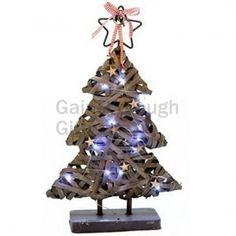 Greywashed Christmas Light up LED Tree 45cm @ gainsboroughgiftware.com
