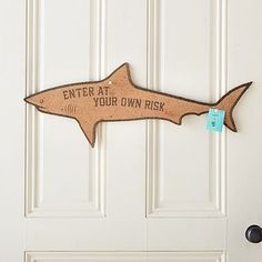 Enter at Your Own Risk Shark Corkboard #pbteen