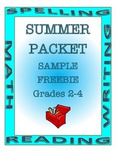 Summer Packet FREEBIE Grades 2-4 by A Thinker's Toolbox