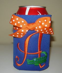 LOVE!! Gator Can Koozie by doodlebugsga on Etsy, $12.00