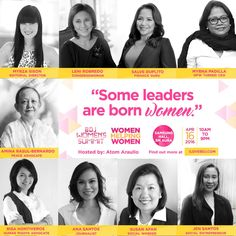 Speakers at the BDJ Summit, Women Helping Women.  Join us at the #BDJWomensSummit #WomenHelpingWomen on April 16 at the Samsung Hall, SM Aura!