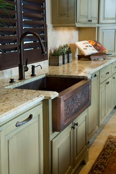 country french in college station texas traditional kitchen - French Kitchen Sinks