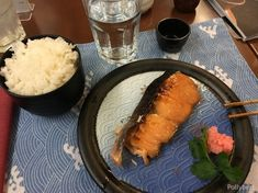Nihonbashi - a Japanese restaurant and a karaoke bar Sake Wine, Steamed Spinach, Salmon And Rice, Sushi Restaurants, Miso Soup, Japanese Dishes, Grilled Salmon, Karaoke, Spicy