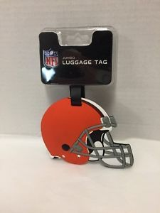 NFL-Jumbo-Rubber-Luggage-Suitcase-ID-Tag-Cleveland-Browns-Orange