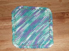 Handmade  Hand Knit 100% Cotton Durable Dishcloth ~ You Choose Color by TheKnittingGnomeVT on Etsy