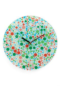 Chromatically Correct Wall Clock   With All The Same Colors From The Color  Blindness Test!   My Friend Got Me This On My Birthday U003d) Amazing Design