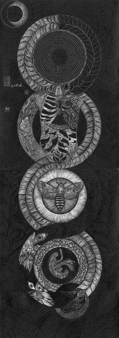 theseventh-prayer:  Joseph Uccello, Ouroboros of Life and Death. / Sacred Geometry <3