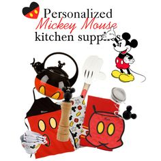 Mickey Mouse Kitchen Set, created by natalie-nicole-1 on Polyvore