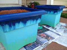 DIY: Ombre Planters At our house, we plant new flowers every spring/summer and fall. This year, I decided our old planters needed an upgrade. A paint job was in order! All you need for this project is a planter (ours were cheapo plastic), acrylic...