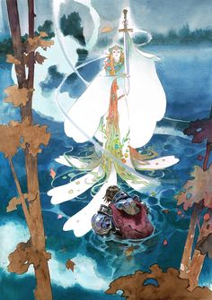 Roi Arthur, King Arthur, Lake Art, Dnd Art, Comic Book Artists, Sci Fi Art, Close To My Heart, Character Design Inspiration, Dungeons And Dragons