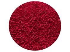Dywanik łazienkowy chenille 57cm koło czerwony