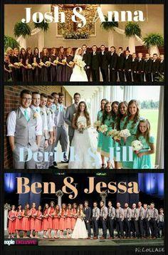 The Duggar Children Weddings . Duggar Girls, Wedding Pics, Trendy Wedding, John David, Duggar Family Blog, Duggar Wedding, Jill Duggar, Shane Harper, Amigurumi