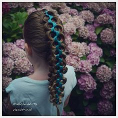 """Stacked braid with ribbon."" Photo taken by @nikehuiberts on Instagram, pinned via the InstaPin iOS App! http://www.instapinapp.com (08/15/2015)"