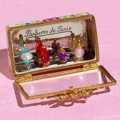 REFLECTIONS — Limoges perfume bottles vitrine box with perfume...