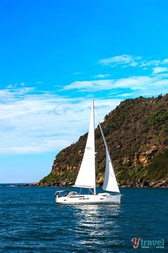 Sailing towards Palm Beach, Sydney, Australia