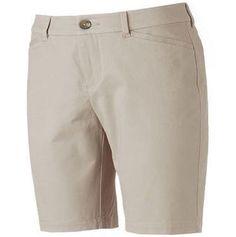 NWT Womens Croft & Barrow Stretch Beige Mid Rise Bermuda Shorts Size:8 RP:$32 #CroftBarrow #Bermuda