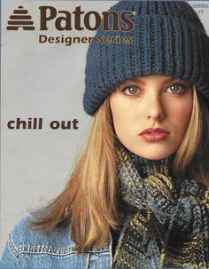 Patons 500985 Designer Series Chill Out from 2002 Crochet Books, Thread Crochet, Knitted Hats, Crochet Hats, Old Mother, Pineapple Pattern, Scrapbook Supplies, Scrapbooking, Mothers Love