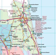 Map Of Southeast Florida.Southeast Florida Road Map Showing Main Towns Cities And Highways