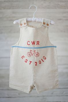 "Baby Boy   Personalized ""flour sack"" Jon Jon"
