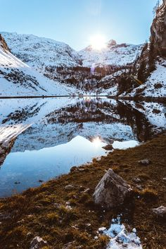 Krn Lake... Last sunrays on Krn Lake by Samo Muroves on 500px.