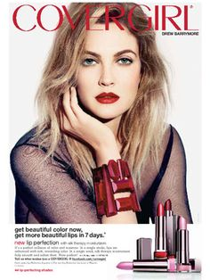 Drew Barrymore, CoverGirl Lip Perfection