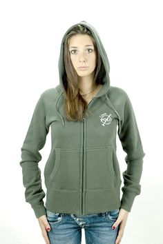 Zipped hoodie grey with leather application, 100% cotton, player 3 in cut leather on the back