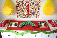 Very Hungry Caterpillar party ideas Boy First Birthday, First Birthday Parties, First Birthdays, Birthday Ideas, 4th Birthday, Hungry Caterpillar Party, Caterpillar Book, Baby Party, Party Time
