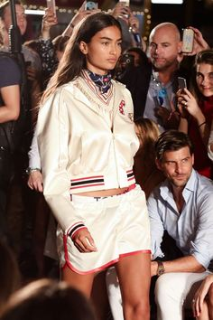 at the #TOMMYNOW show featuring the #TOMMYXGIGI collection.. Watch & shop all the looks at tom/my/now  Kelly G