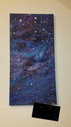 Bild -Leuchtet in der Nacht. Universum-Galaxy Glow von liebe-das-beste auf DaWanda.com