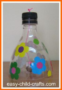 Recycled crafts for Kids - Bell bottle  A little cheesy, but they play with boxes instead of the toys so...