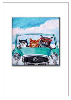 Items similar to 3 Cats In A Nash Metro Print on Etsy French Acrylics, Ultra Premium, Kitty, Canvas, Prints, Fun, Products, Cuddle Cat, Fin Fun