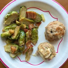 Leftover Brussels and balls for lunch  #keto #ketosis #lowcarb #lchf #highfat #brusselssprouts #bacon #meatballs #jalapeno #leftovers #yum #worklunch by ketoalessa