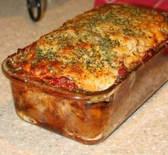 cheesy parmesan meatloaf - kitchen recipes
