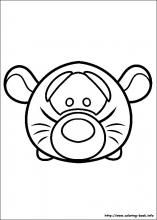 tsum coloring pictures to color | Tsum Tsum coloring pages on Coloring-Book.info