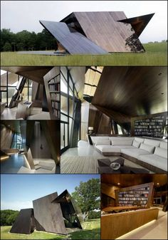 Space Architecture, Amazing Architecture, Exterior Cladding, Unusual Homes, The Design Files, World Trade Center, Interior And Exterior, Cool Pictures, House Plans