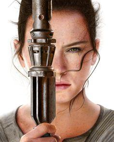Daisy Ridley as Rey in Star Wars par Heather Rooney