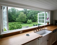 Counter Top, Dream House, Kitchen Windows, Folding Window, Farmhouse Kitchen, Huge Window, Open Window