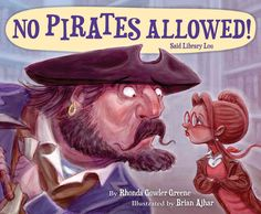 At Seabreezy Library, things were just right. / Booklovers were cozy. The sky was blue-bright / when--Shiver me timbers!--through Seabreezy's door / stormed big Pirate Pete and his parrot, Igor! Argh!