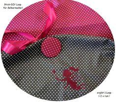 STICK♥Loop♥ DIY Elfe pinki Minipunkte +Button ... von ஐღKreawusel-aufgehübscht✂ஐ  auf DaWanda.com