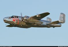 N6123C Red Bull - The Flying Bulls North American B-25J Mitchell photographed at Salzburg W.A. Mozart (SZG / LOWS) by Karl Dittlbacher