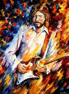 Eric Clapton PALETTE KNIFE Figure Of Musician by AfremovArtStudio