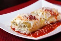 chicken pesto lasagna roll ups