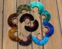 Hoop Tassels Earrings/hippie/boho