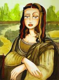La Gioconda or Mona Lisa in the version of Blanca BK Gimeno