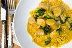 Coconut Curried Sausages Thermomix