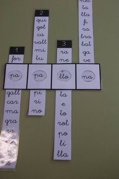 Formar palabras con las sílabas