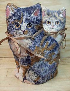 Pair of Cute Kitten Egg Cup, Mug or Cup Cosies